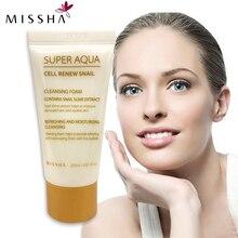 Missha Super Aqua Cell Renew Snail Cleansing Foam 20ml Facial cleaning travel Facial cleanser Moisturizing Oil Control Repair