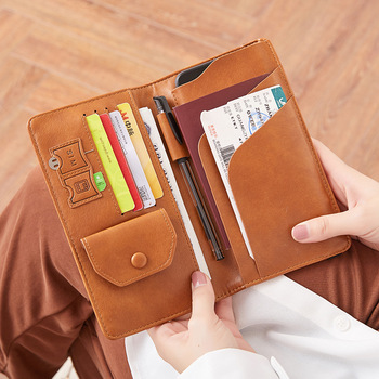 RFID Vintage Business Passport Covers Holder Multi-Function ID Bank Card Women Men PU Leather Wallet Case Travel Accessories New - discount item  50% OFF Wallets & Holders