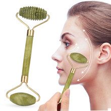 Double Head Jade Roller Natural Jade Massage Roller Facial Beauty Massager Face Lift Tool Body Relaxation Face Skin Care Machine