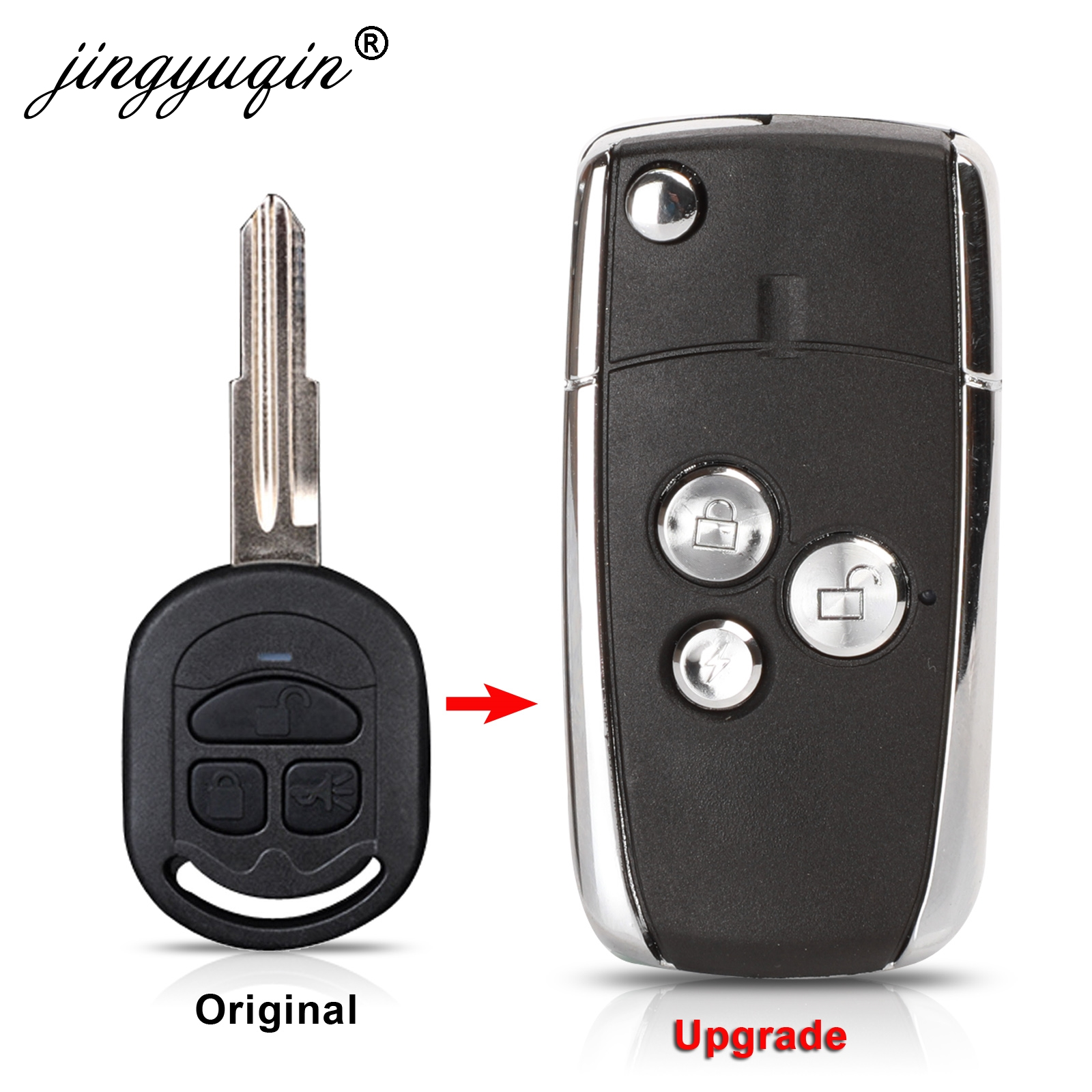 3 Button Modified Flip Remote Key Shell Case For Buick Excelle HRV fit Chevrolet optra Fob Key Cover (After 2005 year) Replace(China)