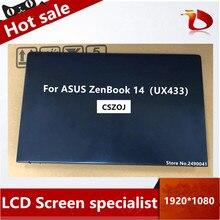 Frete grátis novo para asus zenbook 14 lingya deluxe14 ux433fn ux433fa ux433 montagem da tela lcd 1920x1080 resolução