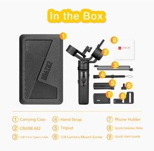 Image 5 - Zhiyun guindaste m2 3 axis handheld cardan câmera estabilizador para câmeras mirrorless ação pk guindaste 2 gopro hero 5 6 7 smartphone