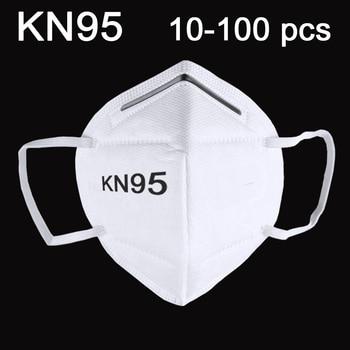 100PCS-10 PCS KN95 Mask Mouth Face Dust Anti-influenza MASKS reusable anti PM2.5 electrostatic meltblown cloth Breathable