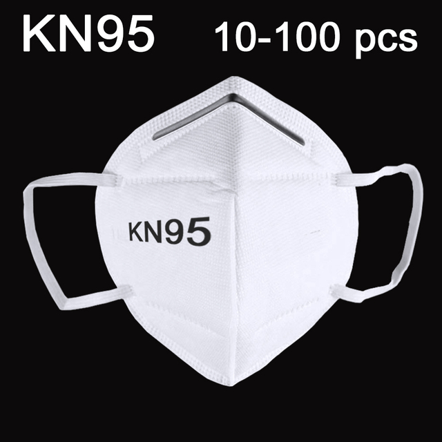 100PCS-10 PCS KN95 Mask Mouth Face Dust Anti-influenza MASKS reusable anti PM2.5 electrostatic meltblown cloth Breathable