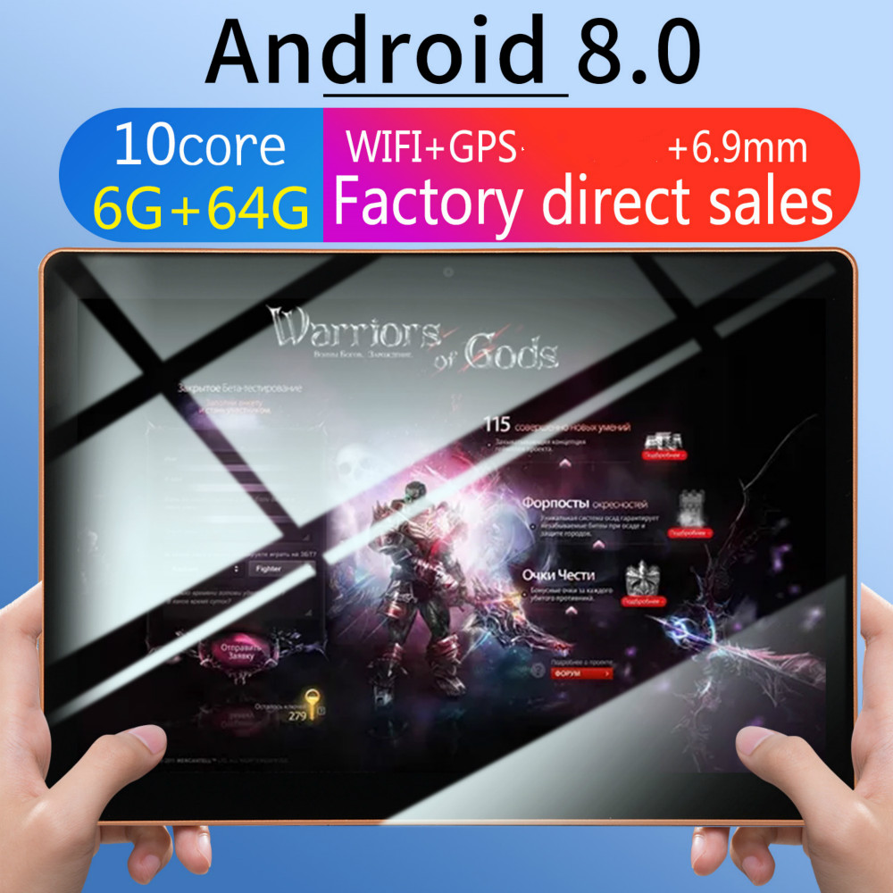 2019 High Quality Tablet 2.5D Screen 10 Inch 6G+64G WiFi Tablet PC Dual SIM MTK6797 Bluetooth WiFi Call Phone Game Tablet PC3