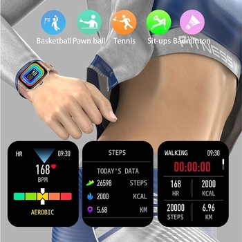 2021 Bluetooth-compatibleAnswer Call Smart Watch Women Men Full Touch Dial Call Fitness Tracker IP67 Waterproof Smartwatch women 6