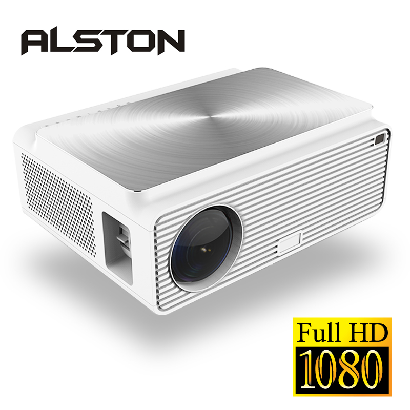 ALSTON Q9 full hd led projector 4k HDMI USB AV 1080p portable cinema Proyector Beamer