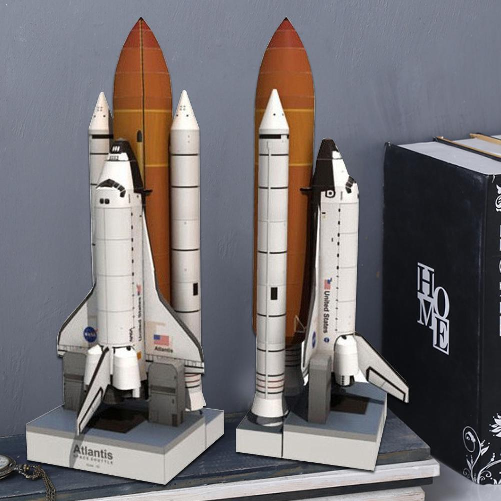 1:150 DIY Paper Model Toys 1 Set 3D Space Shuttle Paper For Children Shuttle Handmade Model Toy Educational Space Toy Paper B7Q0