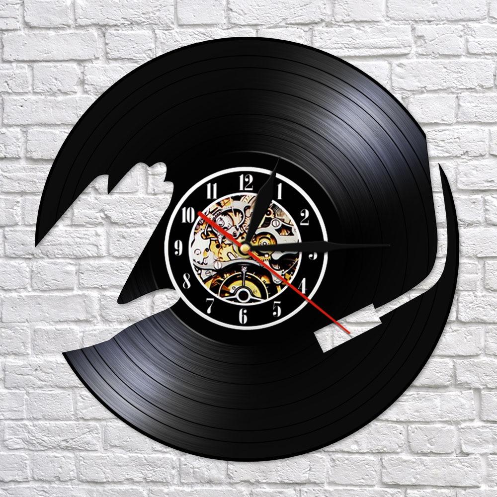 DJ Music Vinyl Record LP Wall Clock Watch 3D Night Light Party Dance Hall Decor Vintage Timepiece Music Club Gift For DJ