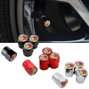 Car Styling Metal Wheel Stem Covers Tire Valve Caps for Abarth alfa romeo 595 fiat 500 124 spider cabrio italia 204A image
