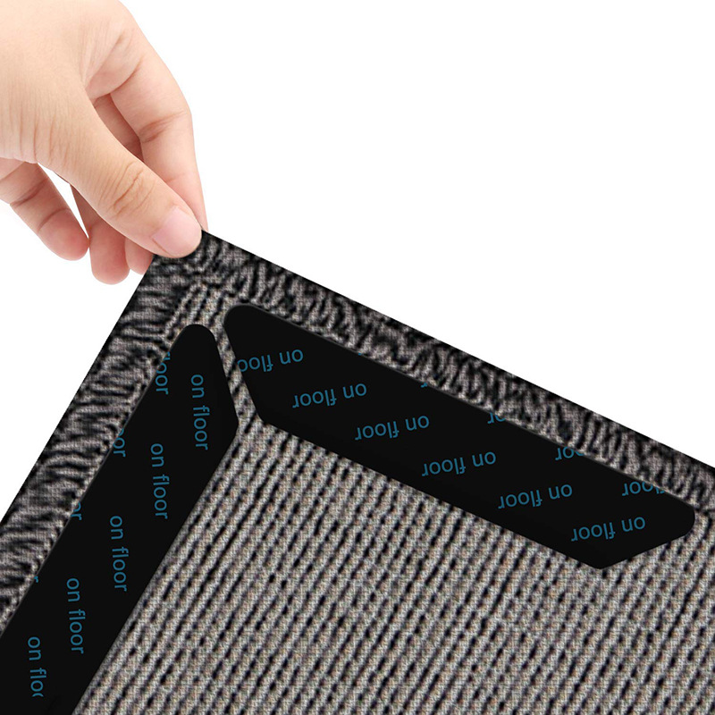 (8 Pieces/lot) Self-adhesive Reusable Washable Rug Grippers Carpet Mat Non Slip Anti Curling Grip Mat Pad Living Room