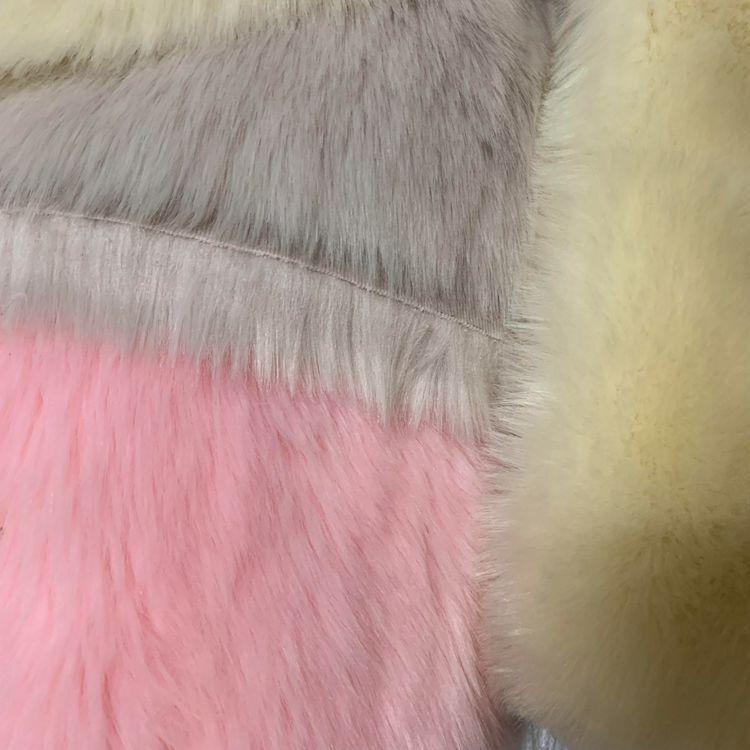 Мягкий лисий мех ткань одежда нагрудник шаль игрушка Искусственный Мягкий мех ткань оптовая продажа - 2