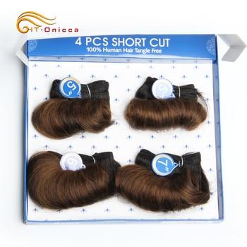 Brazilian Curly Hair Weave Bundles 100% Human Hair 4 Bundles Afro-b 1B 30 Bundles Hair Extension 5 5 6 7 Inch Htonicca Remy Hair 6