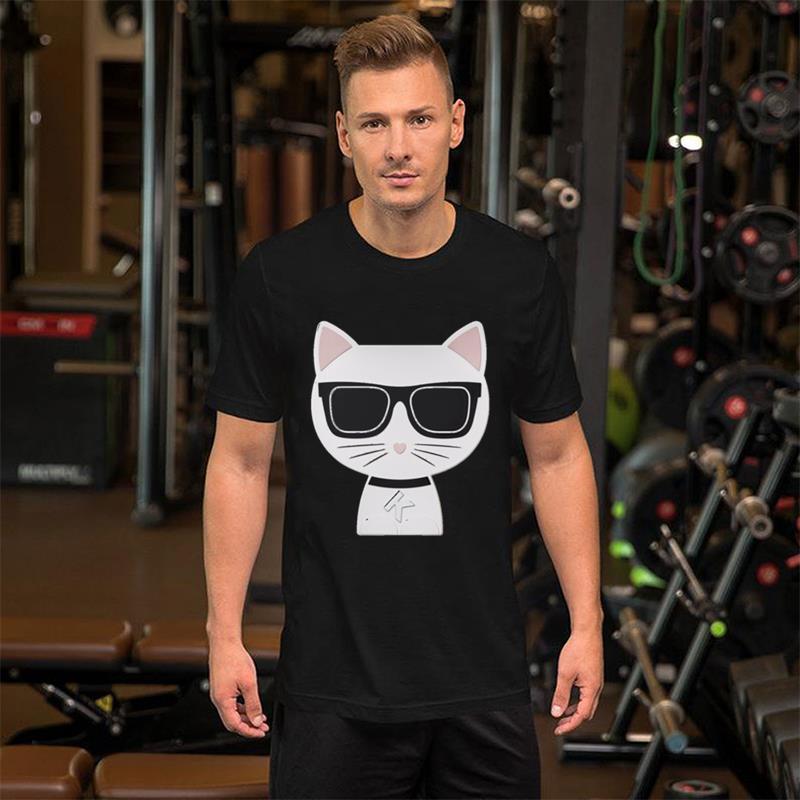 Men Tshirts 2020 Fashion Summer New Arrival Crewneck Black Cotton T Shirt Designer Rich Cat White T-shirt 3xl 4xl 5xl Top Tee