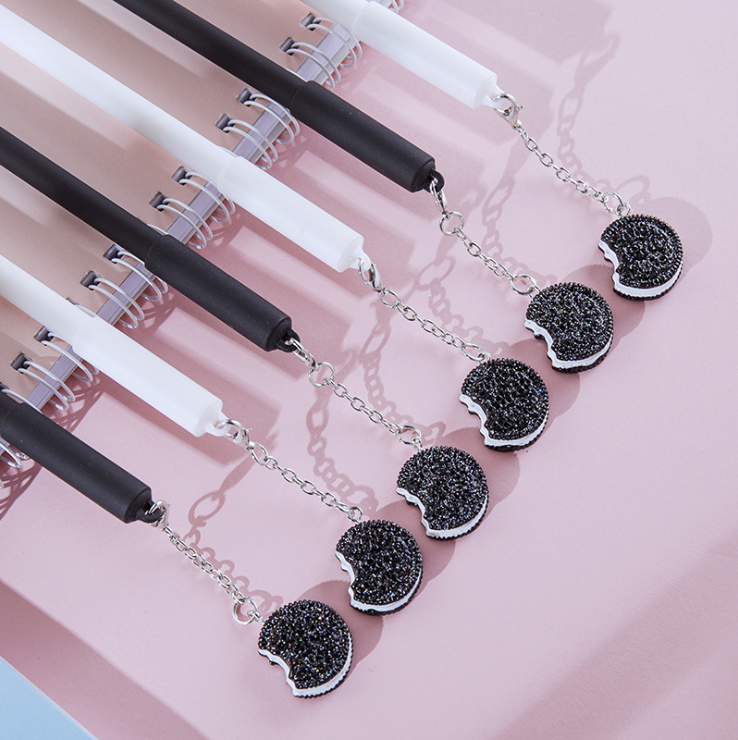1Pc Lytwtw Creatieve Leuke Kawaii Biscuit Hanger Gel Pen Oreo Briefpapier Novel School Office Supply Sweet Pretty Mooie grappig