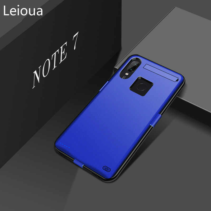 Leioua 6800mAh Battery New Charger Case for Xiaomi Redmi Note7 Pro Power Bank Battery Cover Slim Power Bank Case