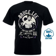 Bruce Lee Mens New T Shirt Sizes Sm 4Xl Junfangungfu In 100% Black Cotton Tee