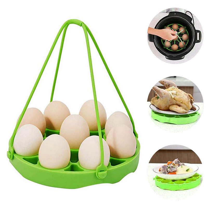 Silicone Egg Rack Steamer Rack Trivet With Handles Holds Egg Bites Mold Or 9 Eggs Easy Cooking Perfect Hard Or Soft Boiled Eggs