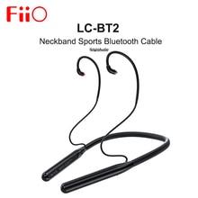 FiiO LC BT2 AK4331 DAC الرقبة الرياضة بلوتوث 5.0 كابل MMCX 0.78 مللي متر موصل SBC/AAC/aptX/LDAC ل FH7 FH3 FA9