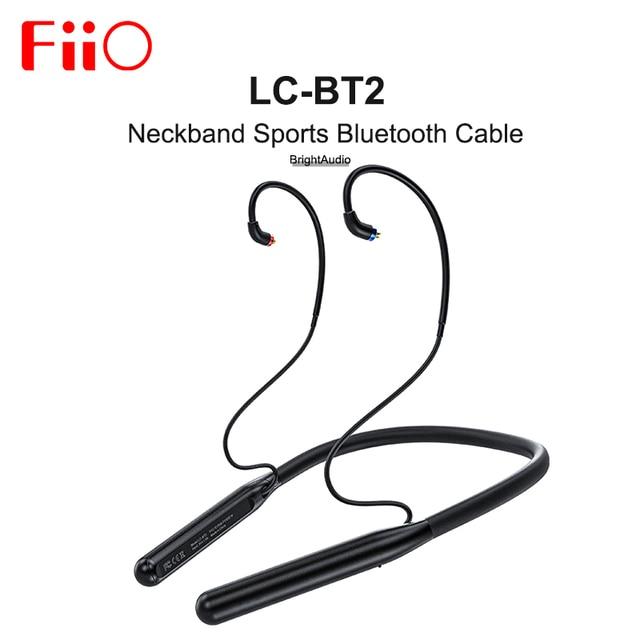 FiiO LC BT2  AK4331 DAC Neckband Sports Bluethooth 5.0 cable MMCX 0.78mm Connector SBC/AAC/aptX/LDAC for FH7 FH3 FA9