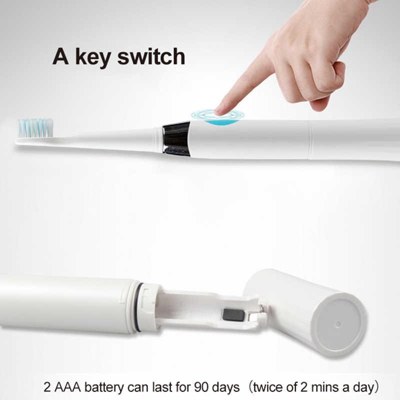 Seago escova de dentes elétrica, com 1 cabeças de escova para substituição, bateria sônica, limpeza profunda, incluída de cerdas macias e23