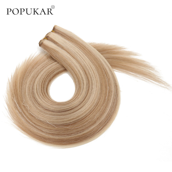 Popukar Brazilian Hair Weave Bundles #10/613 Balayage Hair Weaving Extensions Remy Weft Hair Straight Hair Bundles full shine balayage color 3 8 613 hair weft 100g hair weave sew in ribbon hair 100