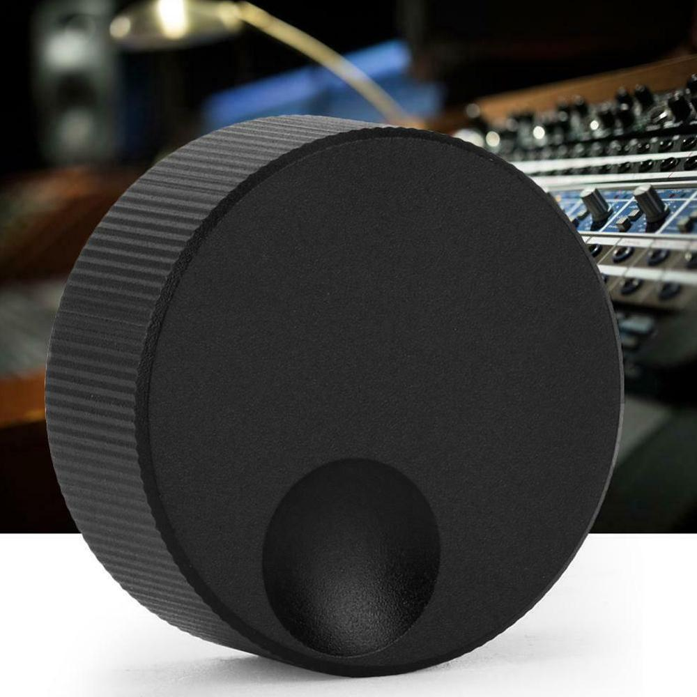 1/5 Pcs Black Frosted Solid Aluminum Knob 32x13mm Volume Control Knob For 6mm Potentiometer