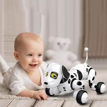 DIMEI 9007A 2,4g беспроводной пульт дистанционного управления Интеллектуальный робот собака Детские умные говорящие игрушки собака Робот электронная игрушка питомец день рождения