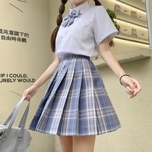 Japanese School Uniforms Purple Skirts Girl's Dresses JK Suits Bowknot Shirt Female Sailor Costumes Dress Clothes for Women