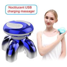 Neck-Massager Back-Head Anti-Cellulite Body-Relaxation Electric Mini for Triangle-Shape