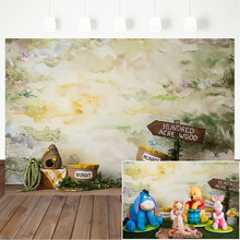 Photography Backdrops Hunny Hundred Acre Wood Newborn Portrait Photography Background Birthday Backgrounds for Photo Studio kate photography backdrop newborn photography background cartoon daily children backdrops kids wall photo backgrounds for studio