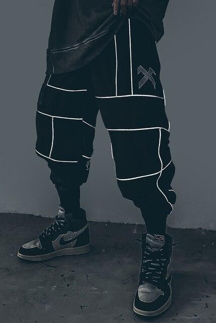 Harajuku Pant Joggers Hip Hop Reflective Japanese pants Streetwear Thin Sweatpant Trousers 28