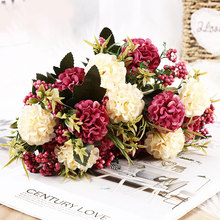 Beautiful Artificial Flowers For Christmas Decoration Fake Pearl Daisy Chrysanthemum Balls Bouquet Home