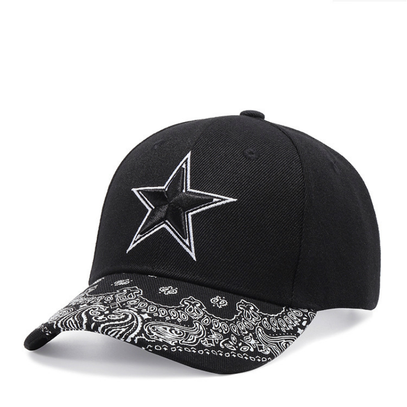 High Quality Star Baseball Cap for Men and Women Hip Hop Hat Black Cotton in Men 39 s Baseball Caps from Apparel Accessories