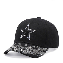 High Quality Star Baseball Cap for Men and Women Hip Hop Hat Black Cotton