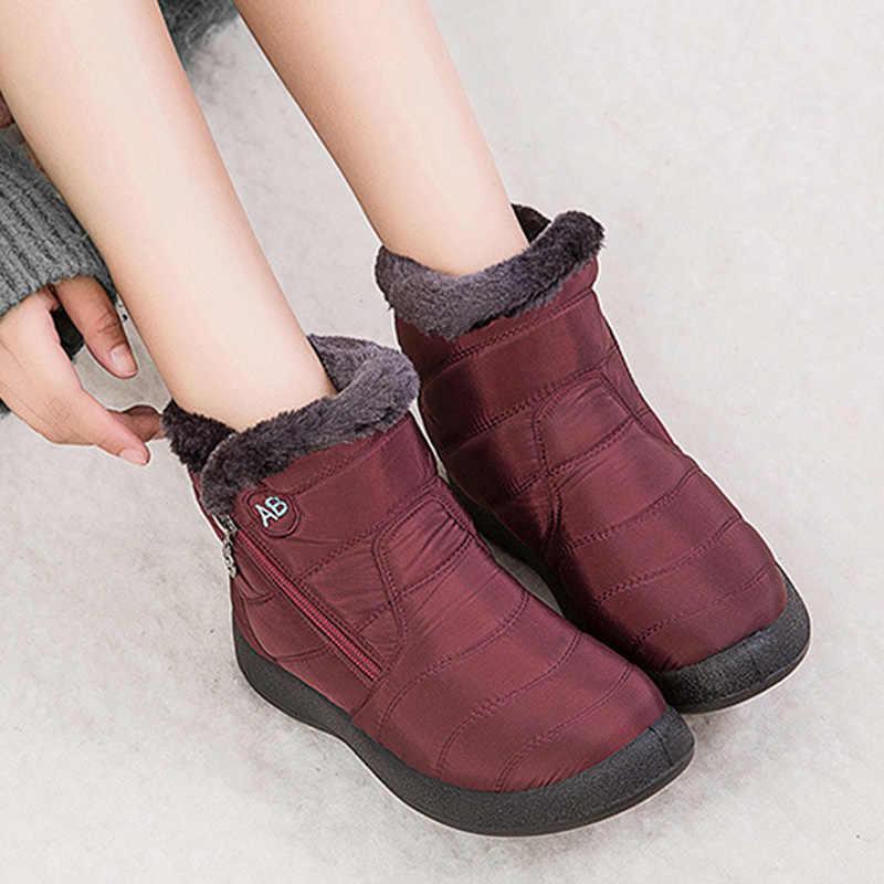 BEYARNEWomen ข้อเท้ารองเท้าบูทรองเท้าอุ่นรองเท้าบูทฤดูหนาวรองเท้าผู้หญิงกันน้ำฤดูหนาวรองเท้าผู้หญิงรองเท้า