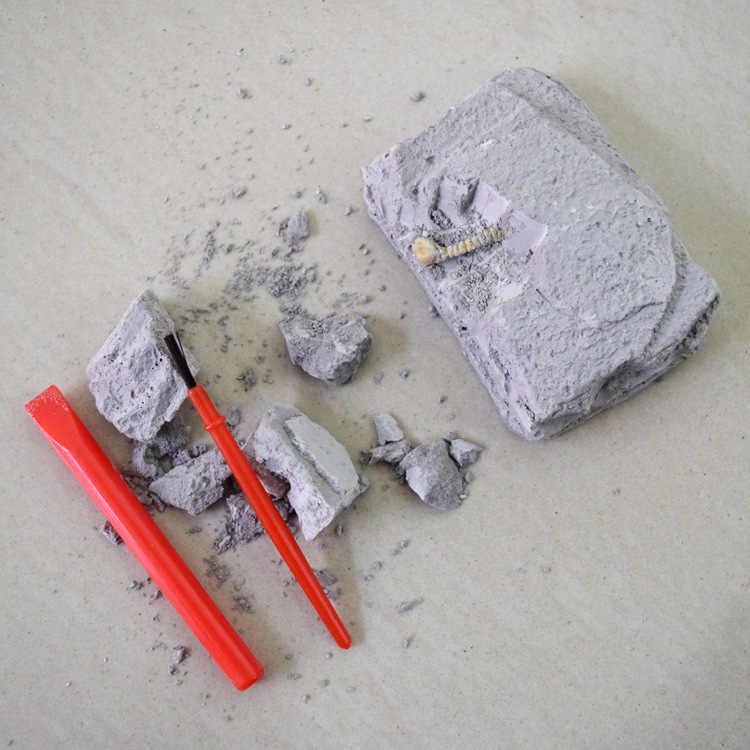 Küçük arkeolojik kazı oyuncaklar simülasyon dinozor fosilleri İlköğretim okulu çocuk DIY çocuk bulmaca oyuncaklar