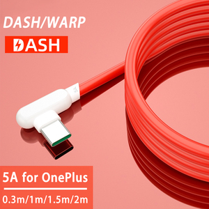 90 Degree Usb 3.1 Type C Warp Charge Cable 5A Dash Charger Cable for One Plus Nord Oneplus 8 Pro 8t 8 7t 7 Pro 6t Fast Charging