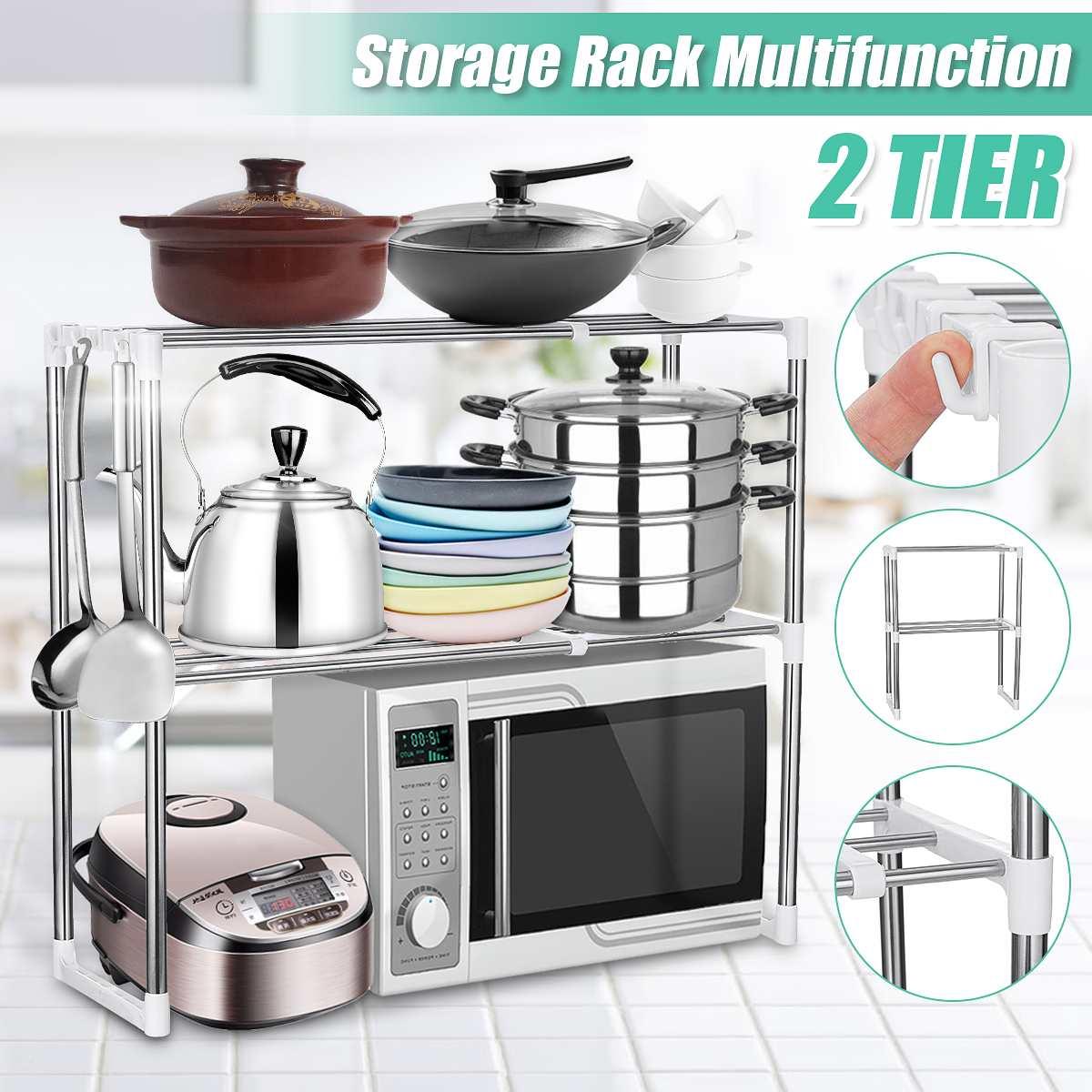 Kitchen Storage Shelf Rack Microwave