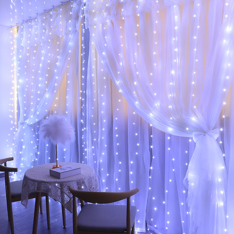 Christmas USB Curtain String Garland lights Remote Control Fairy Light Christmas Decor for Home Wedding Party Holiday Lighting
