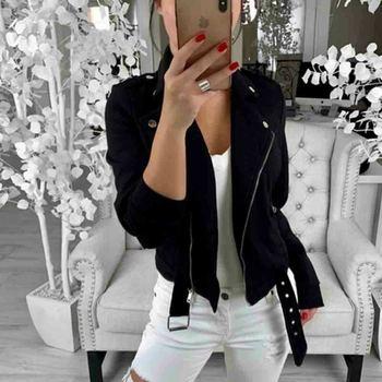 Autumn Fashion Women Thin Army Jacket Coats Zipper Up Solid Casual Flight Top Tunic Biker Coat Ladies Outwear Clothes 2019 2018 women coat fashion ladies retro floral zipper up bomber jacket casual coat autumn outwear women jacket coat