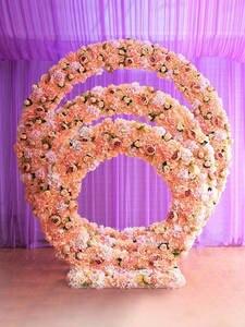 Iron-Ring-Shelf Wedding-Background-Decor Artificial-Flower Door Wall-Stand 2m/2.4m