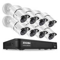 ZOSI 8 チャンネル 1080 1080P HD-TVI DVR 8 個 HD 2MP 防水屋外セキュリティビデオカメラ DVR キット CCTV 監視システム