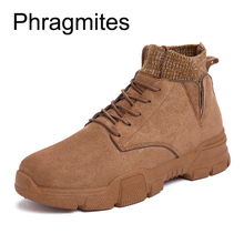 Phragmites Fashion Lace-up Martin Boots New Arrivals Ankle Men Brown  Botas Mujer Big Size 46 Zapatos 2019