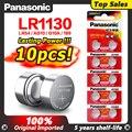 10 шт. Ag 10 аккумуляторы таблеточного типа Panasonic Батарея сотовый 1,5 V AG10 LR1130 LR 1130 Щелочная батарейка-кнопка Батарея AG10 389 LR54 SR54 189