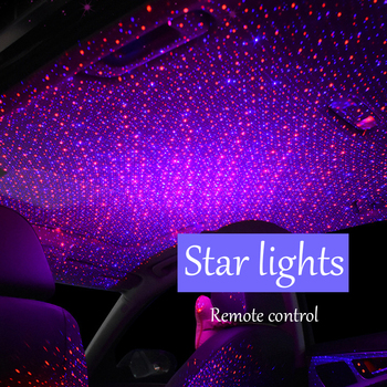 Auto Projection starry sky lights Car star lights modified Styling USB interior ceiling decoration Light control atmosphere Lamp
