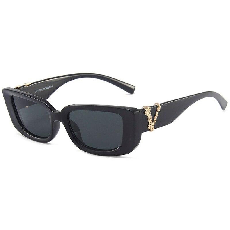 Солнцезащитные очки в прямоугольной оправе UV400 для мужчин и женщин, модные классические, в винтажном стиле, с защитой от ультрафиолета, 2021