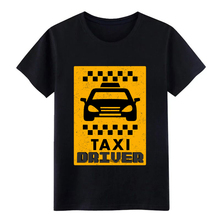 Mens Taxi Driver - (car) t shirt Design cotton Crew Neck Kawaii Cute Authentic summer Outfit