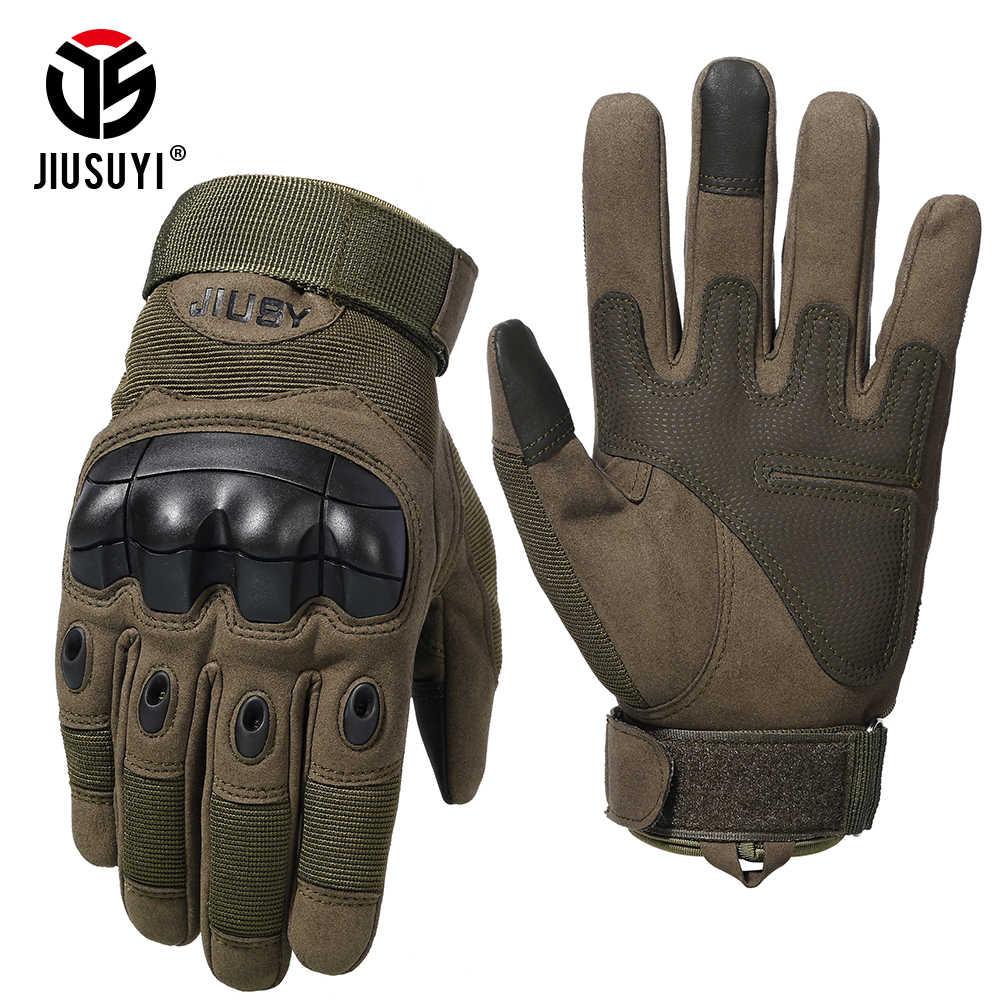Тактические перчатки с сенсорным экраном, противоскользящие военные армейские стрельбы, пейнтбол, страйкбол, карбоновые перчатки с твердыми костяшками
