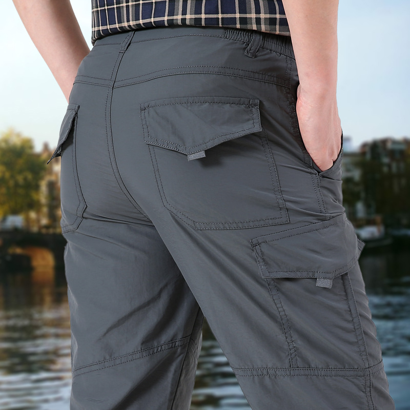 Autumn New Style Men's Trousers MEN'S Casual Pants Men's Outdoor Slim Fit Quick-Dry Breathable Athletic Pants Men's Cargo Trouse